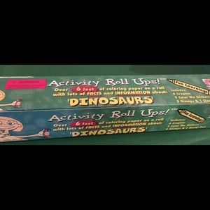 Dinosaur coloring roll over 6' long